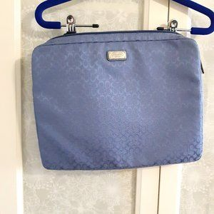 Coach lilac laptop sleeve with zip top